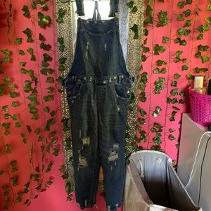 Signature8 Distressed Overalls
